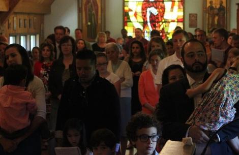 families in church
